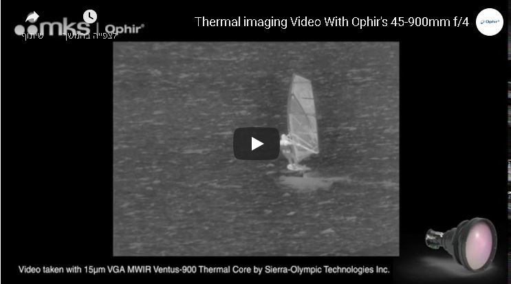 Thermal imaging Video With Ophir's 45-900mm f/4