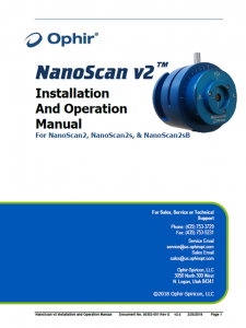 NanoScan2 Installation And Operation Manual