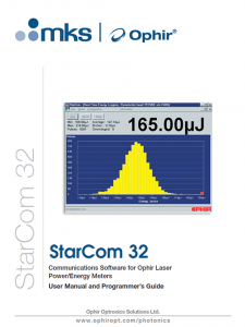 StarCom v3 20 (for RS232 devices) | Ophir Photonics