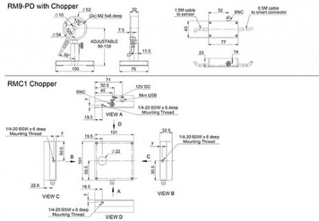 RM9 with Chopper | Laser Thermal Power Sensors | Power Sensors - Ophir