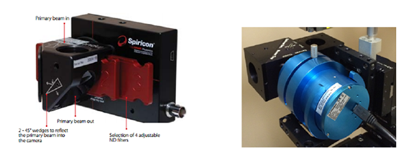 Figure 5. SP Series Camera (left) and NanoScan Rotating Slit Profiler (right).