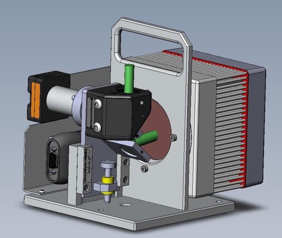 Figure 2. The BeamCheck™ system for additive manufacturing applications measures the laser's focal spot size, power,<br /> and power density at the build plane.